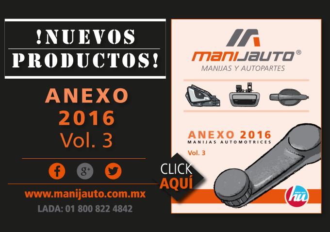 Manijas y Elevadores Automotrices Anexo Vol 3